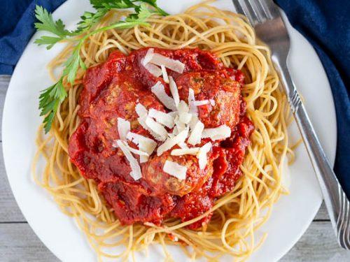 Meatballs in Marinara Sauce Recipe - Sugar Spices Life